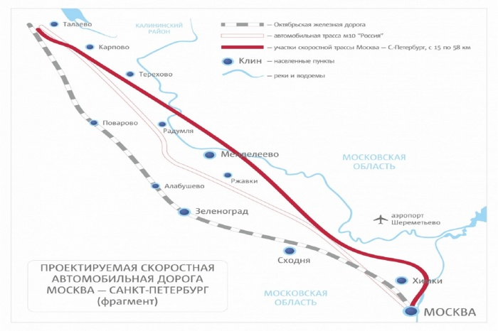 M-11 «Moscow – Saint Petersburg» Highway (km 15 – km 58), head section (2015)