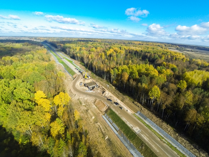 M-11 «Narva» Highway (km 0 – km 16), Ust-Luga commercial seaport access road, fase 1 (2013-2015)