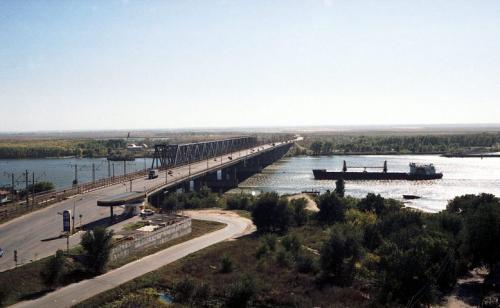 The bridge over the Don River in Rostov-on-Don (1987)