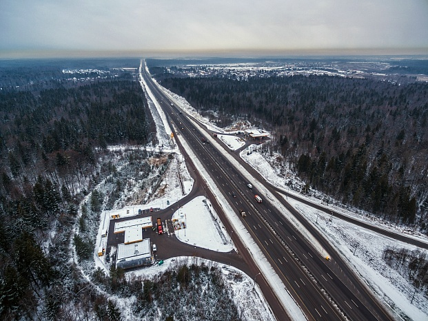 Section of M-9 «Baltic» Highway (km 17 - km 82) in Moscow region (2016)